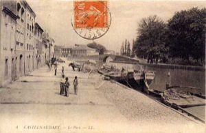 The Castelnaudary port