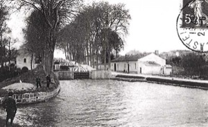 The Saint-Roch lock of Castelnaudary