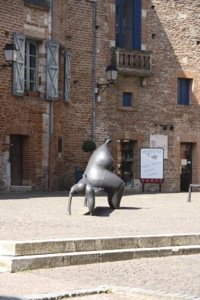 The artist Toutain, represented in Moissac